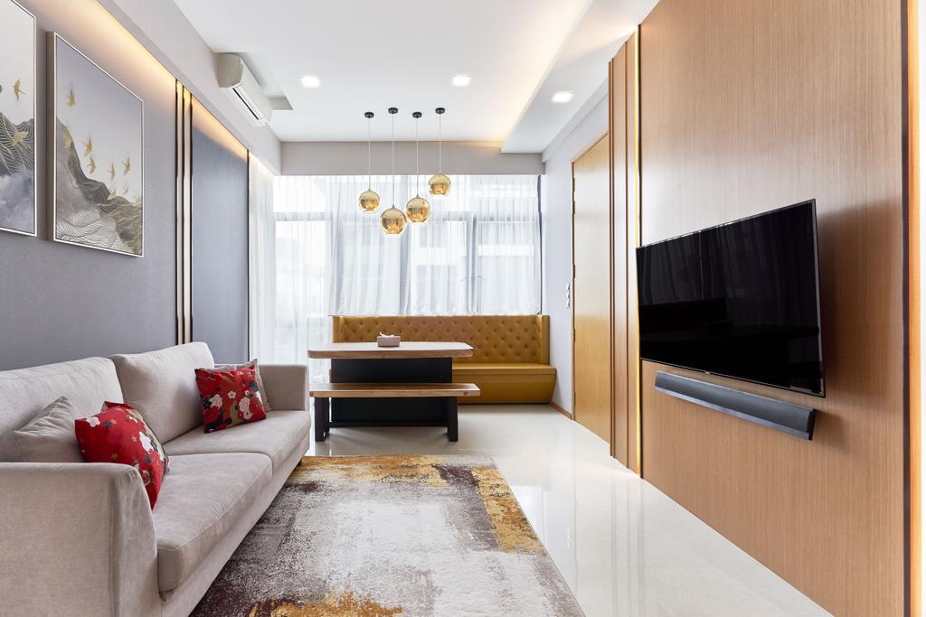 Modern, Condo, Living Room, The Creek, Interior Designer, Ciseern, Contemporary