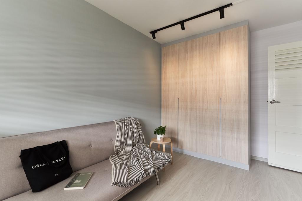 Contemporary, HDB, Bedroom, Stirling Road, Interior Designer, ELPIS Interior Design