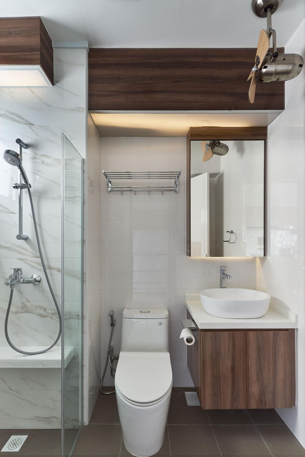 Transitional, HDB, Bathroom, Tanglin Road, Interior Designer, Craftsmen Atelier