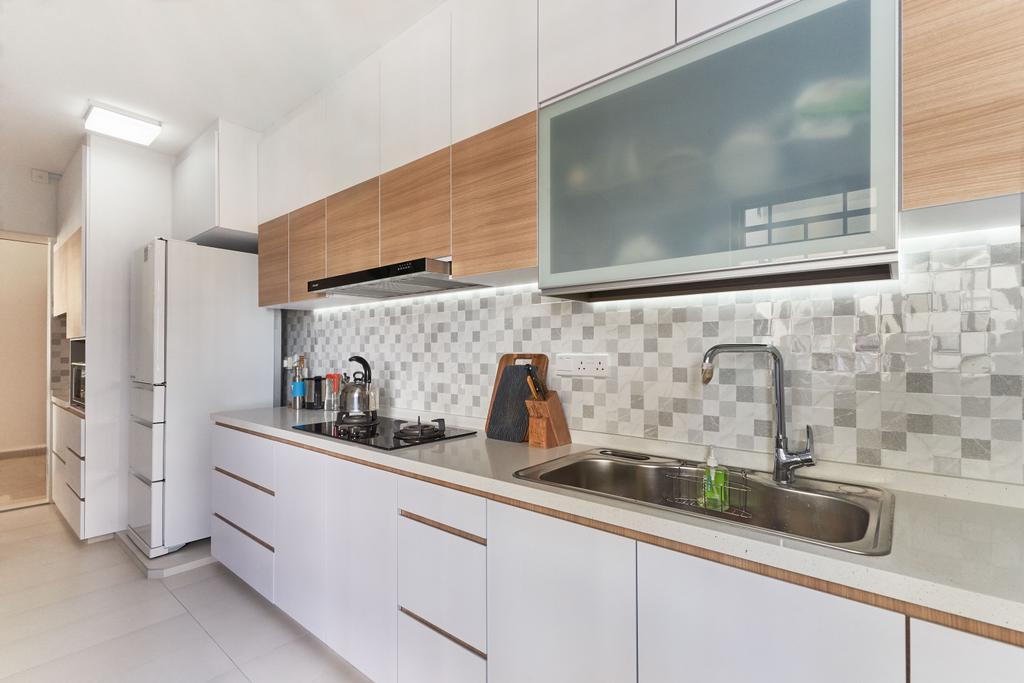 Transitional, HDB, Kitchen, Tanglin Road, Interior Designer, Craftsmen Atelier