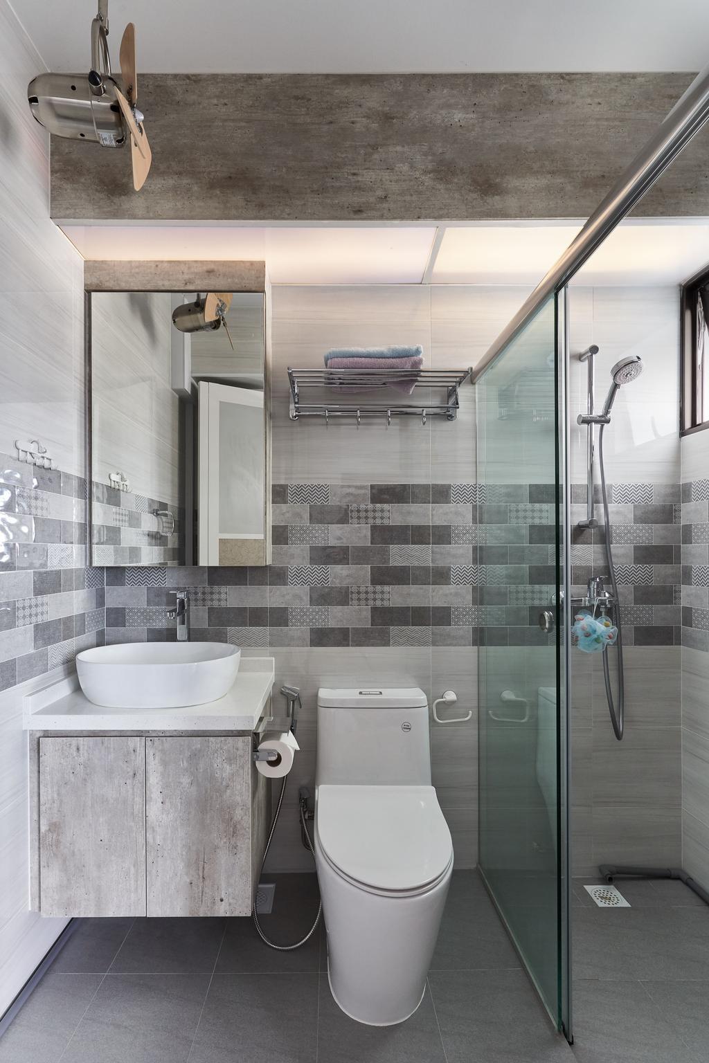 Transitional, HDB, Bathroom, Tanglin Road, Interior Designer, Craftsmen Atelier