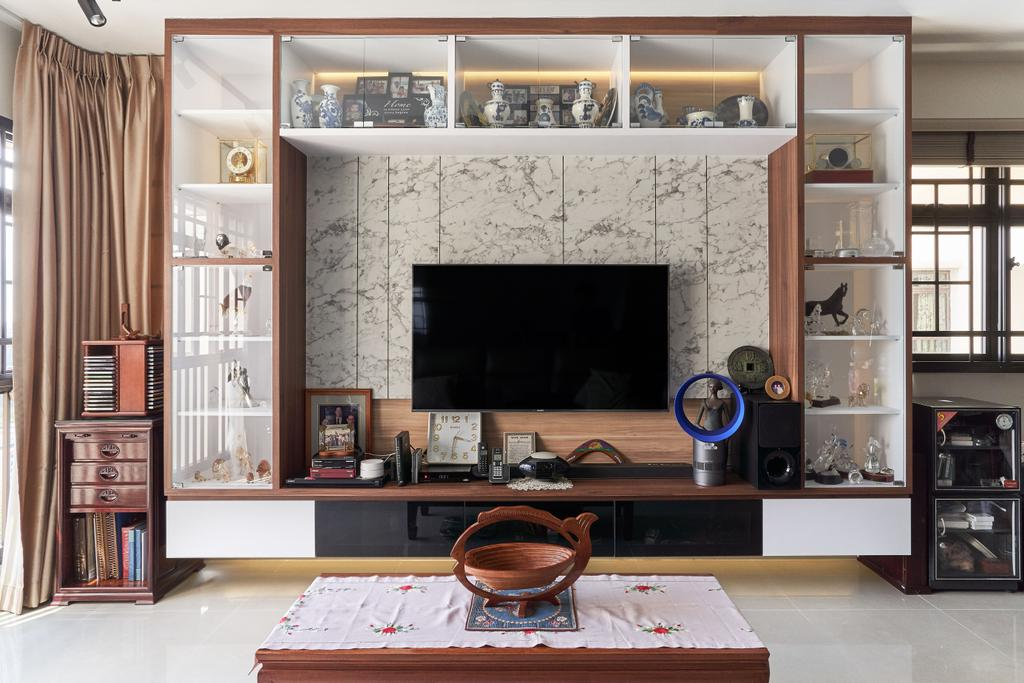 Transitional, HDB, Living Room, Tanglin Road, Interior Designer, Craftsmen Atelier