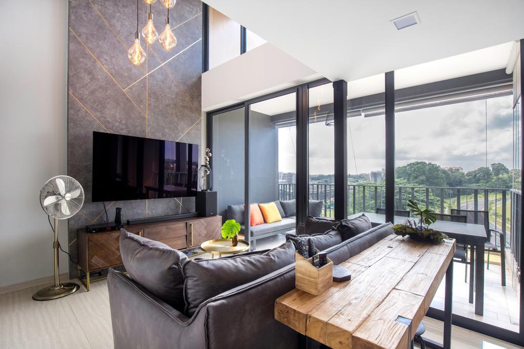 Contemporary, Condo, Living Room, The Brownstone, Interior Designer, Forefront Interior