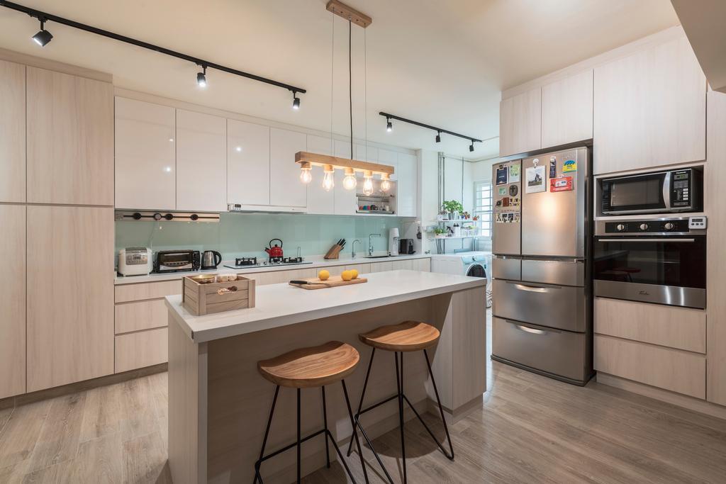 Scandinavian, HDB, Kitchen, Bishan Street 13, Interior Designer, The Design Practice, Kitchen Island