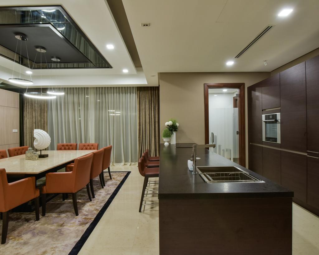 Modern, Landed, Dining Room, Rimbun, Ampany Hilir, Interior Designer, Blaine Robert Design Sdn. Bhd.