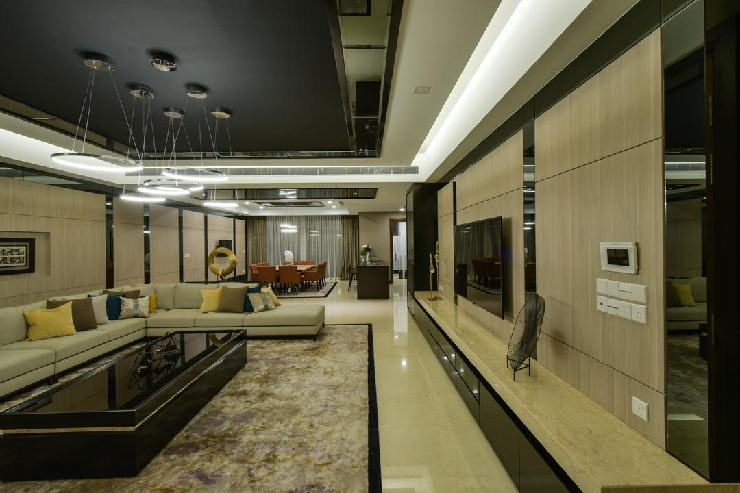 Rimbun, Ampany Hilir Living Room Interior Design 11
