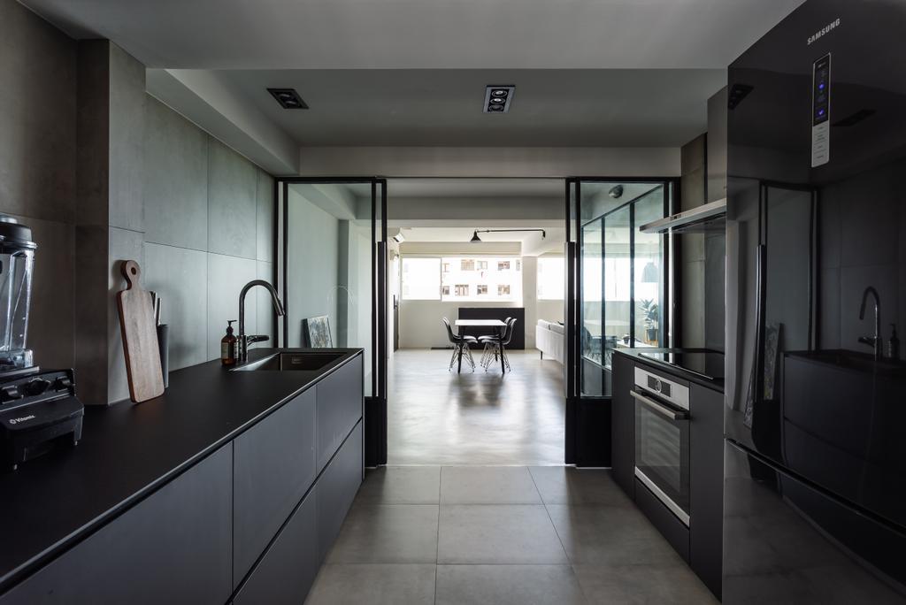 Contemporary, HDB, Kitchen, Marine Crescent, Interior Designer, Habit
