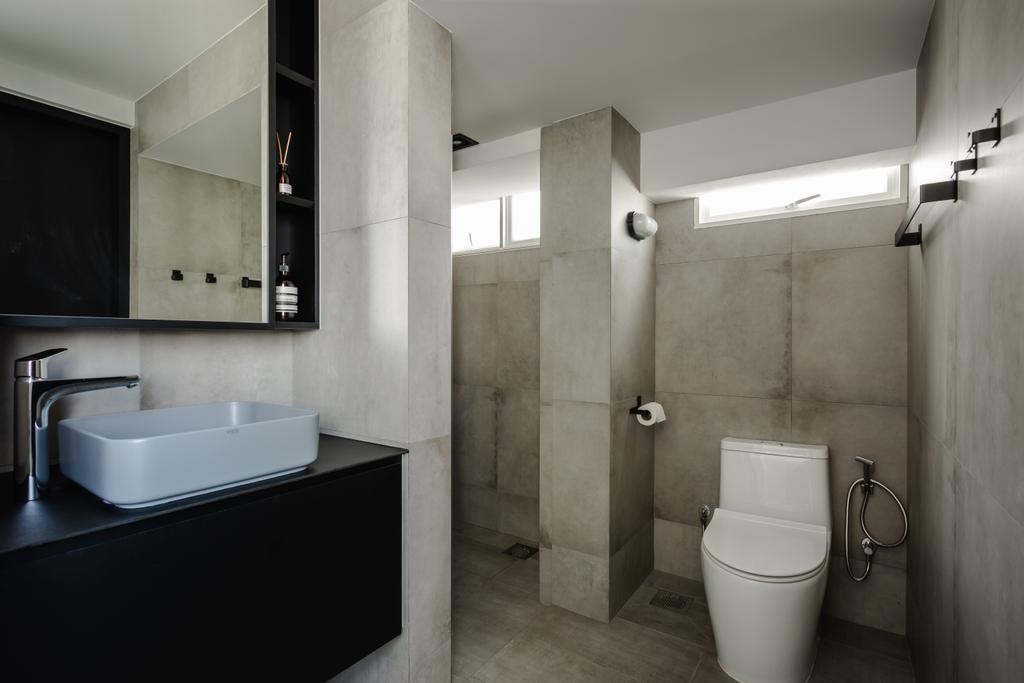 Contemporary, HDB, Bathroom, Marine Crescent, Interior Designer, Habit