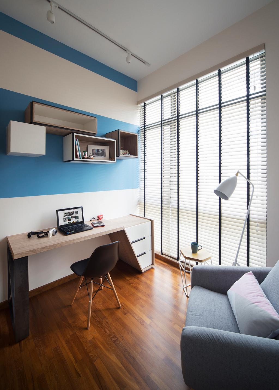 Contemporary, Condo, Study, Skywoods, Interior Designer, Prozfile Design