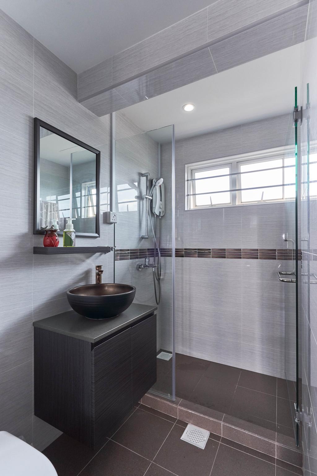 Contemporary, Condo, Bathroom, Blossom View, Interior Designer, Viz Studio