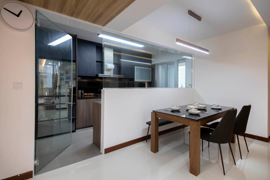 Contemporary, HDB, Dining Room, Woodlands Rise, Interior Designer, Tab Gallery