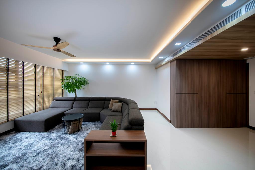 Contemporary, HDB, Living Room, Woodlands Rise, Interior Designer, Tab Gallery