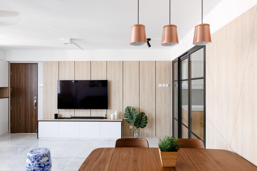 Scandinavian, HDB, Living Room, Serangoon Avenue 3, Interior Designer, Anhans Interior Design