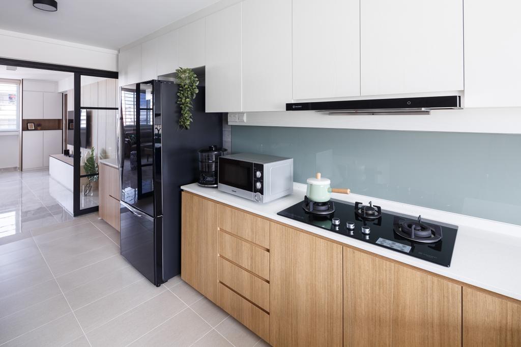 Scandinavian, HDB, Kitchen, Serangoon Avenue 3, Interior Designer, Anhans Interior Design