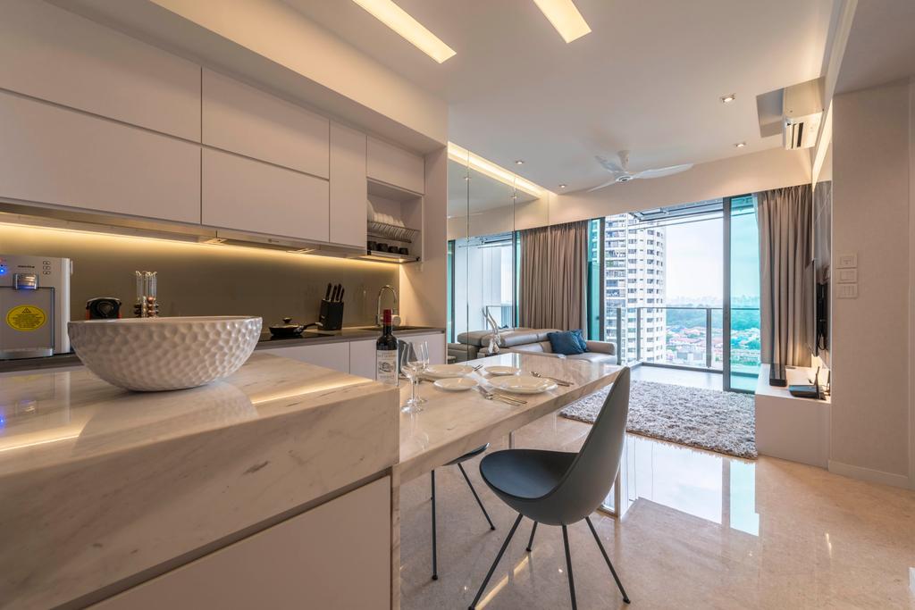 Contemporary, Condo, Kitchen, Thomson Three, Interior Designer, Neu Konceptz