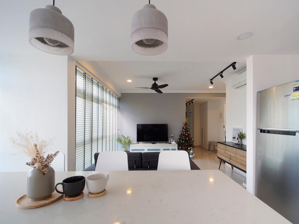 Scandinavian, Condo, Living Room, Breezy Mansions, Interior Designer, Urban Habitat Design