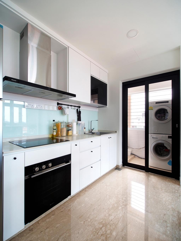 Scandinavian, Condo, Kitchen, Breezy Mansions, Interior Designer, Urban Habitat Design