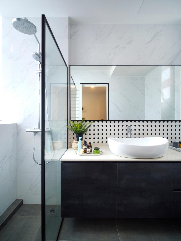 Scandinavian, Condo, Bathroom, Breezy Mansions, Interior Designer, Urban Habitat Design