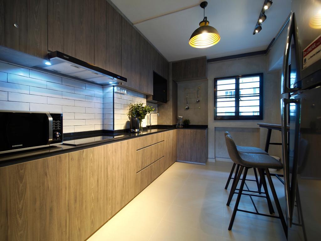 Contemporary, HDB, Kitchen, Tampines Avenue 8, Interior Designer, Urban Habitat Design