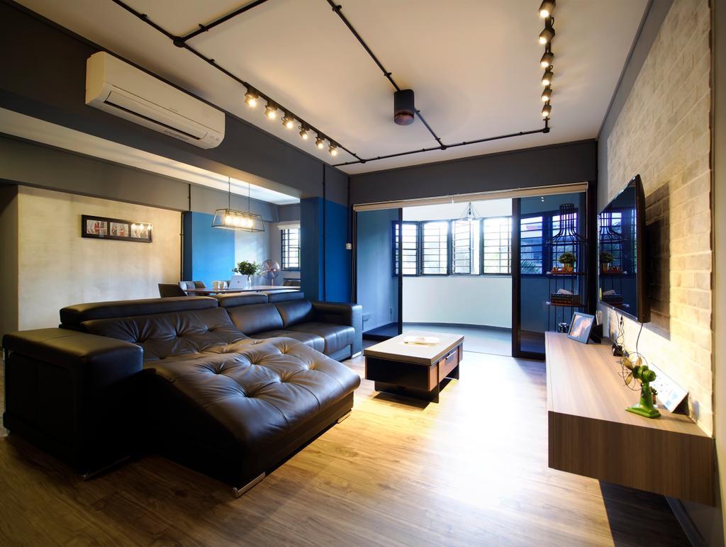 Contemporary, HDB, Living Room, Tampines Avenue 8, Interior Designer, Urban Habitat Design