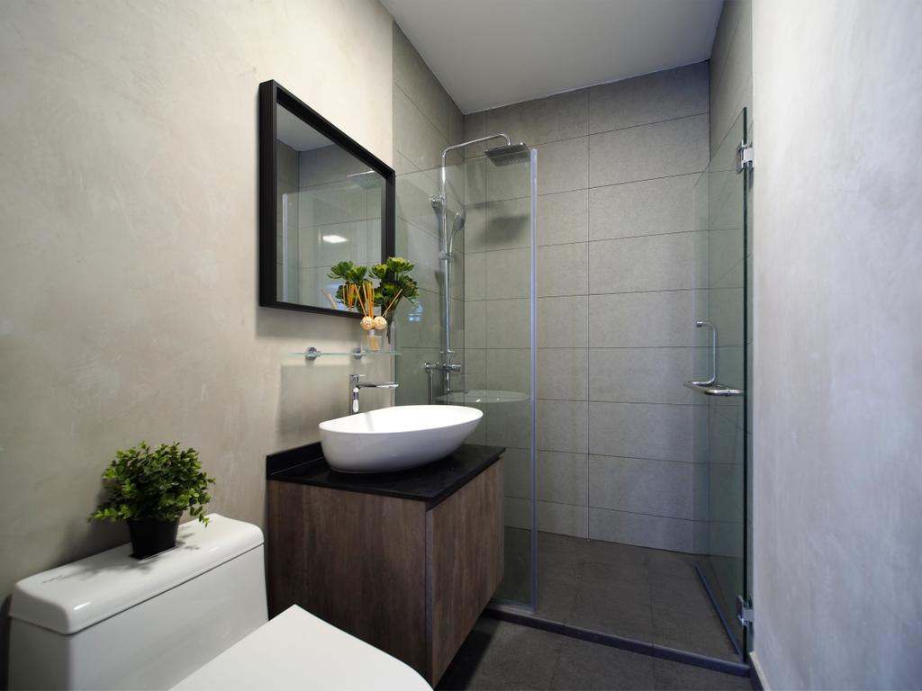 Contemporary, HDB, Bathroom, Tampines Avenue 8, Interior Designer, Urban Habitat Design