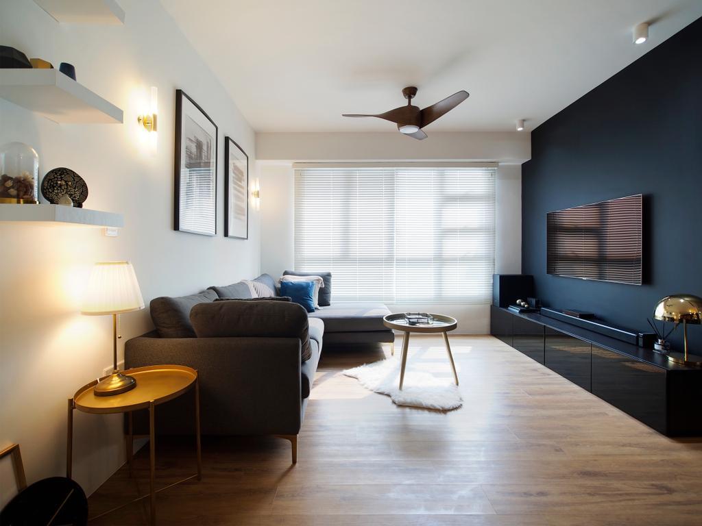 Contemporary, HDB, Living Room, Clementi Avenue 4, Interior Designer, Urban Habitat Design