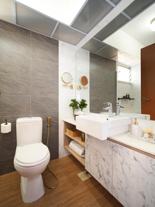 Contemporary, HDB, Bathroom, Clementi Avenue 4, Interior Designer, Urban Habitat Design