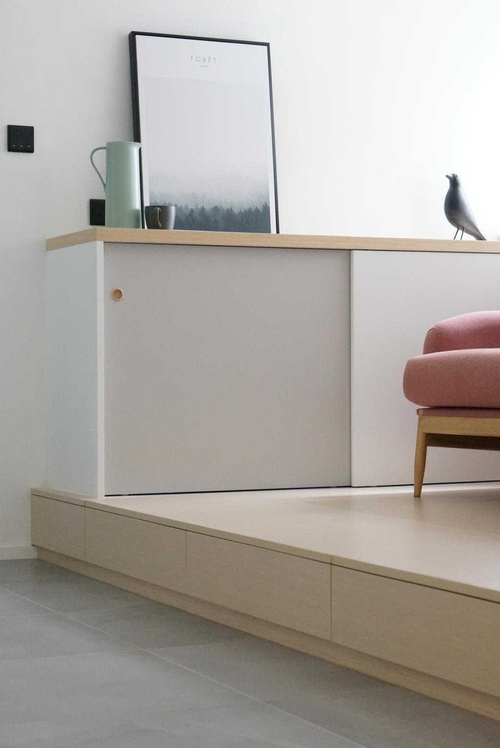 北歐, 私家樓, 客廳, 富怡花園, 室內設計師, hoom studio, 摩登, 簡約