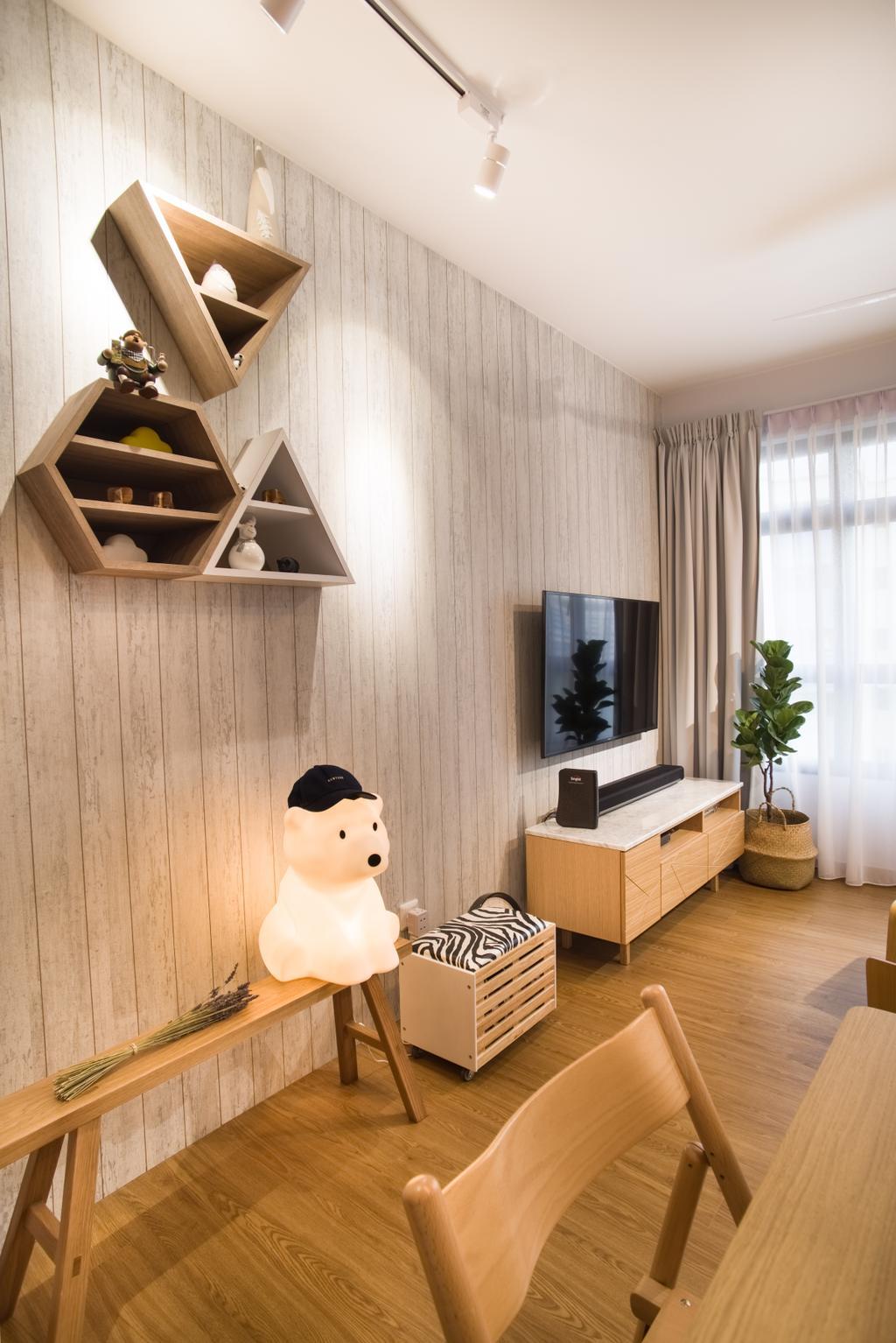 Scandinavian, HDB, Living Room, Upper Serangoon Road, Interior Designer, Urban Habitat Design