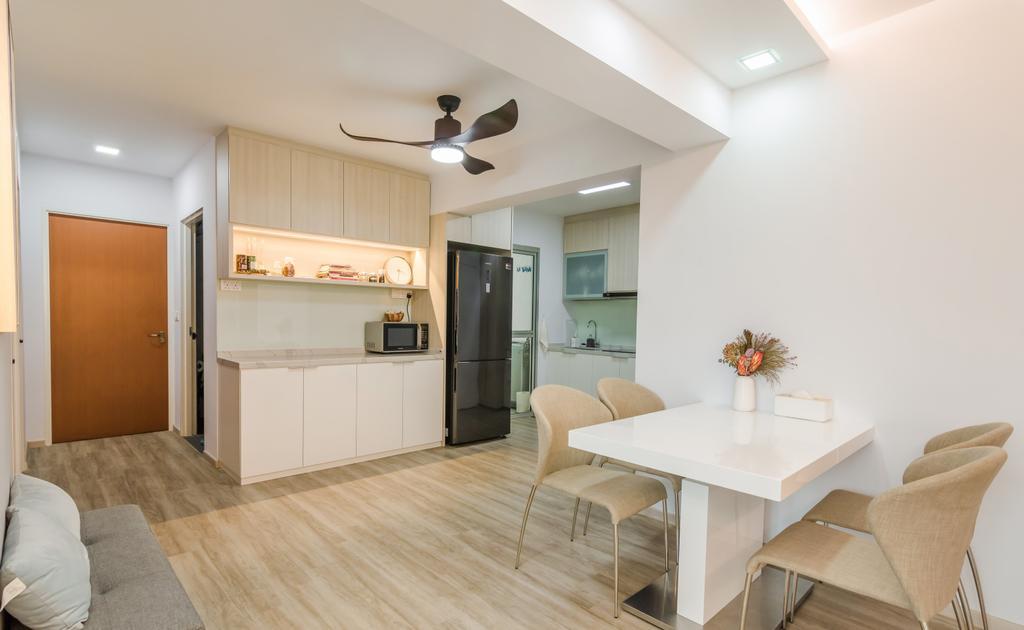 Contemporary, HDB, Living Room, Canberra Street, Interior Designer, EMS Renovation