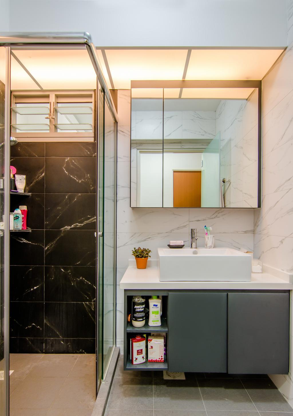 Contemporary, HDB, Bathroom, Canberra Street, Interior Designer, EMS Renovation