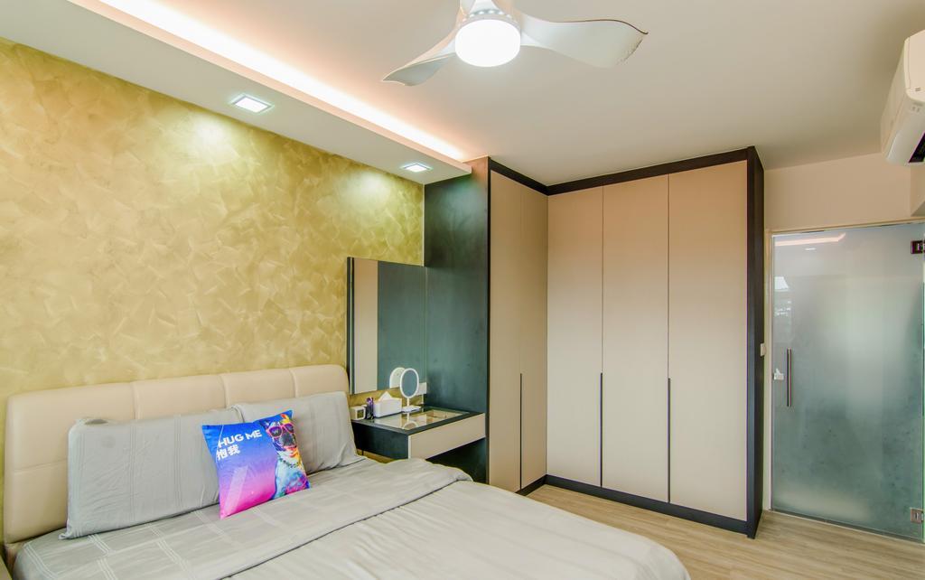 Contemporary, HDB, Bedroom, Canberra Street, Interior Designer, EMS Renovation
