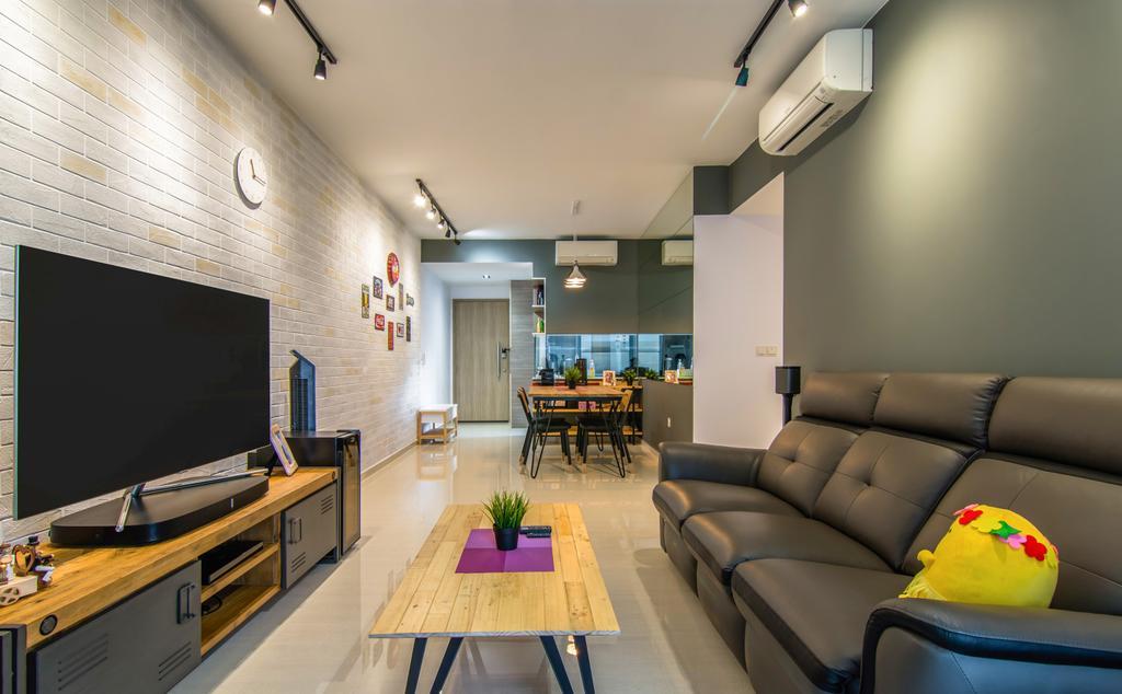 Contemporary, Condo, Living Room, Sol Acres, Interior Designer, EMS Renovation
