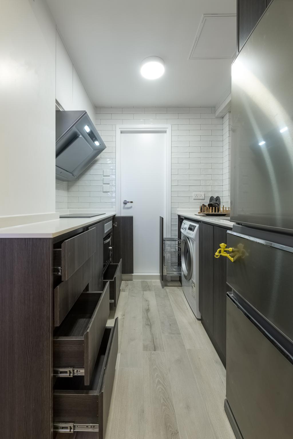簡約, 私家樓, 廚房, 順利大廈, 室內設計師, Deco Farmer Studio