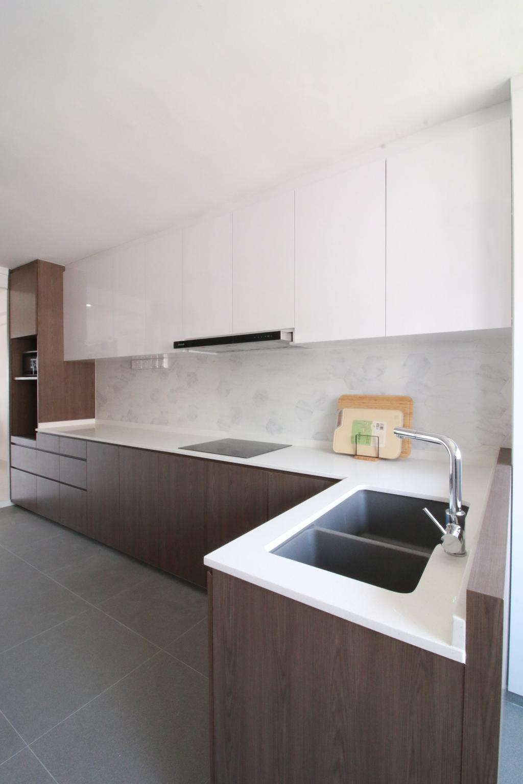 Contemporary, HDB, Kitchen, Ang Mo Kio Avenue 4, Interior Designer, Our Interior