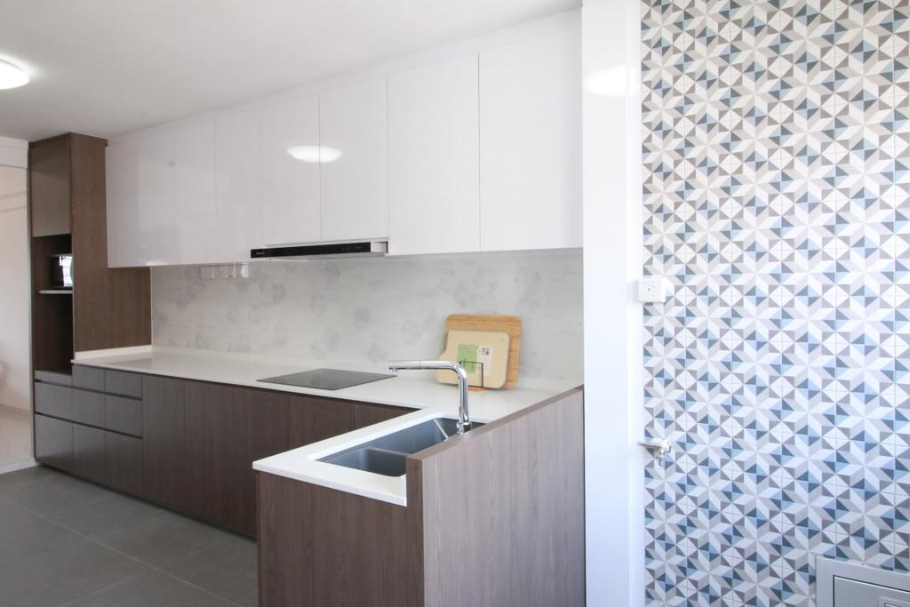 Contemporary, HDB, Kitchen, Ang Mo Kio Avenue 4, Interior Designer, Our Interior
