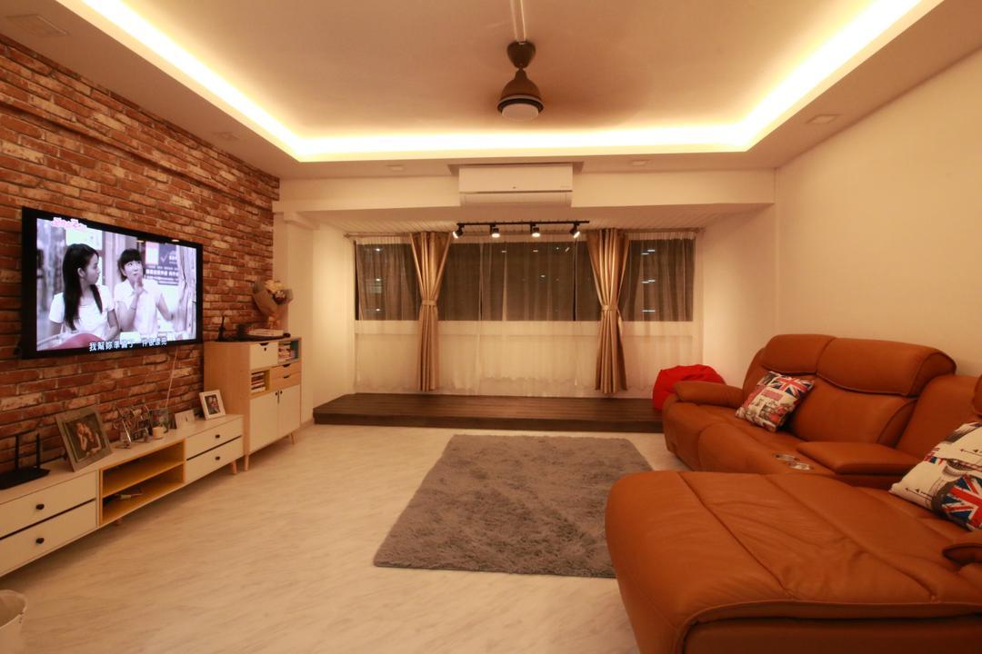 Bukit Batok Street 52 Living Room Interior Design 3