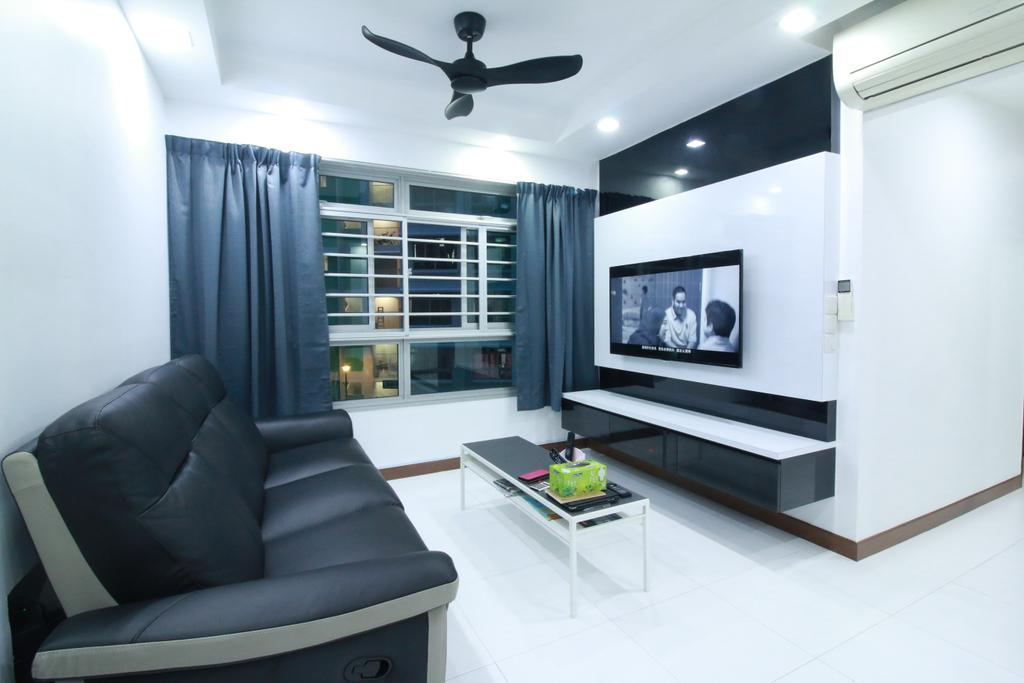 Contemporary, HDB, Living Room, Punggol Central, Interior Designer, Our Interior