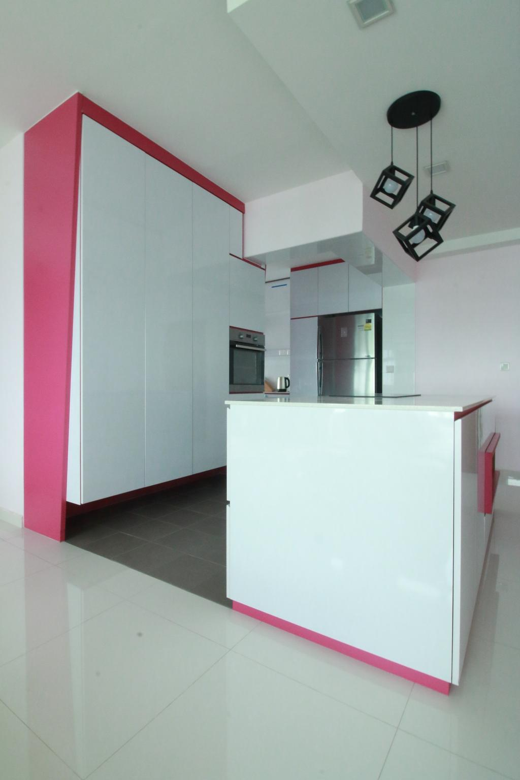 Contemporary, HDB, Kitchen, Sengkang West Way, Interior Designer, Our Interior