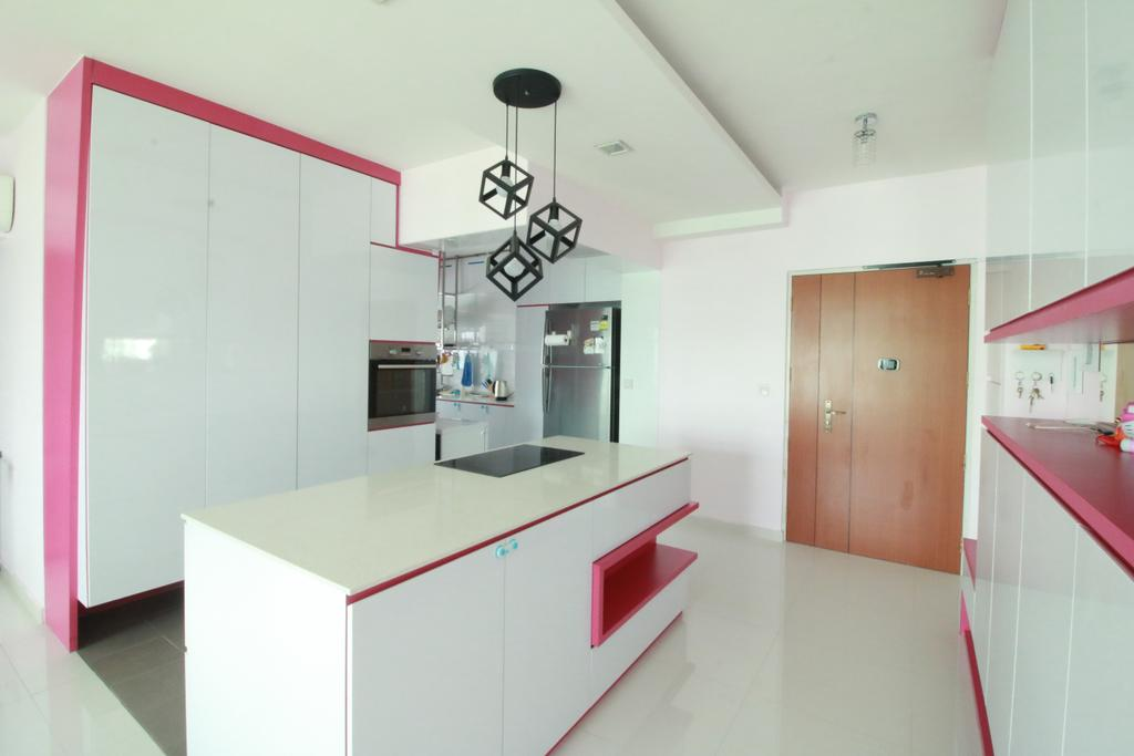 Contemporary, HDB, Kitchen, Sengkang West Way, Interior Designer, Our Interior