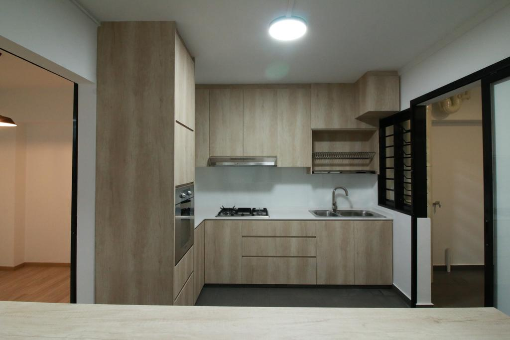 Contemporary, HDB, Kitchen, St. George's Lane, Interior Designer, Our Interior