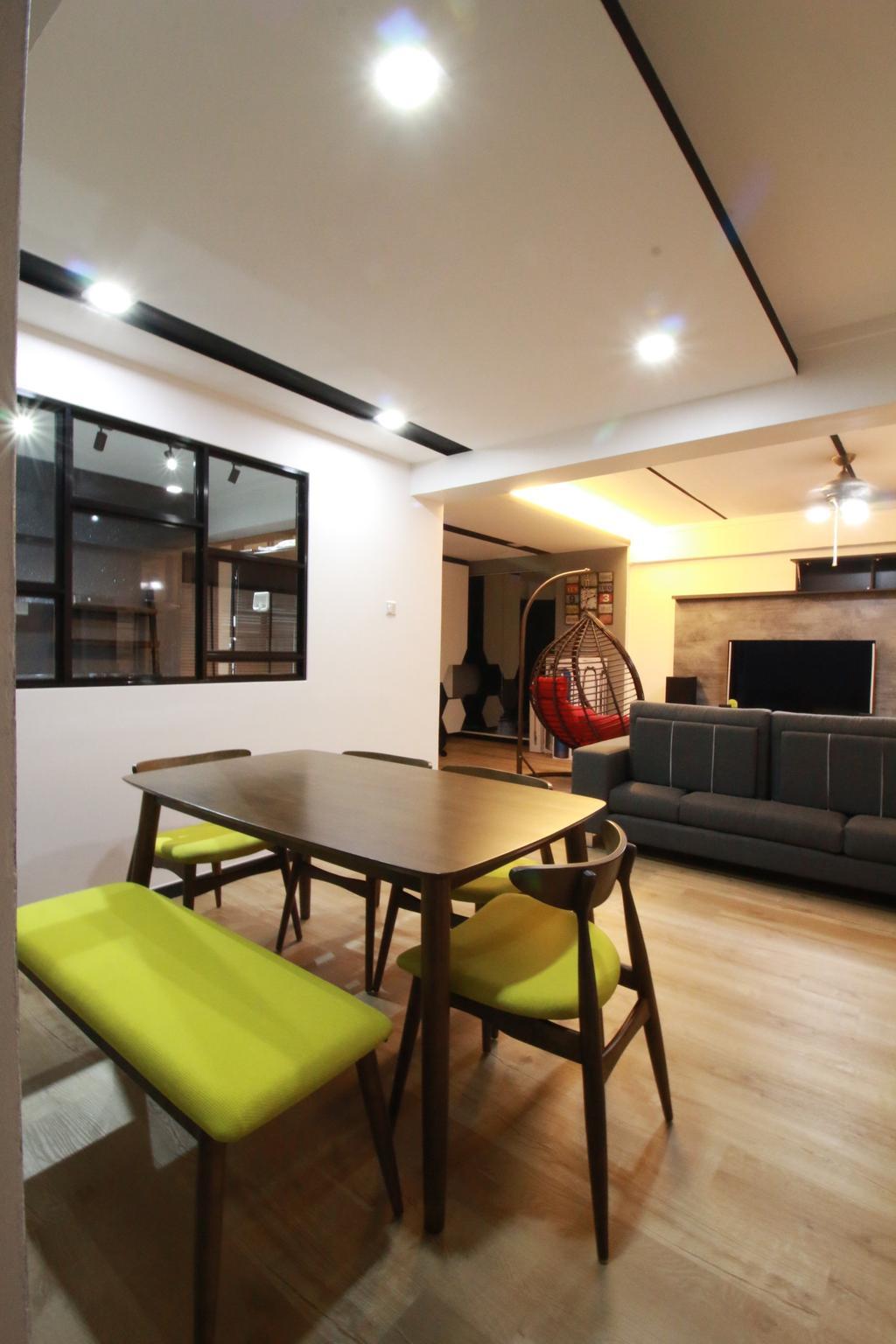 Contemporary, HDB, Living Room, Woodlands Ring Road, Interior Designer, Our Interior