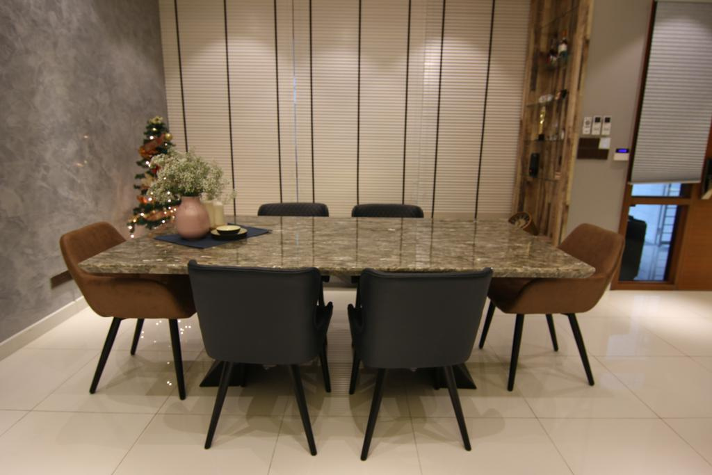 Modern, Landed, Dining Room, Tropicana Parkfield, Semenyih, Interior Designer, Interior Hunters Sdn Bhd, Contemporary