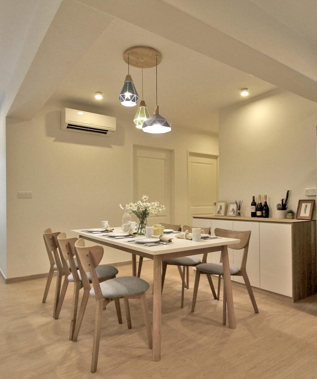 Scandinavian, HDB, Dining Room, Tampines Street 45, Interior Designer, Mr Shopper Studio