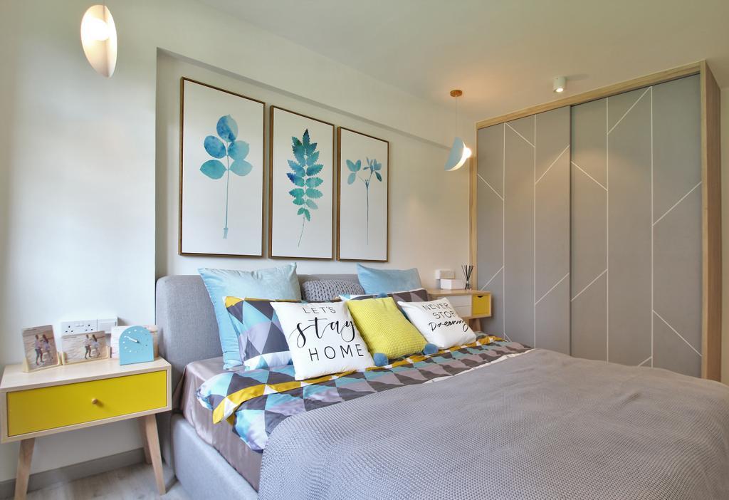 Scandinavian, HDB, Bedroom, Tampines Street 45, Interior Designer, Mr Shopper Studio