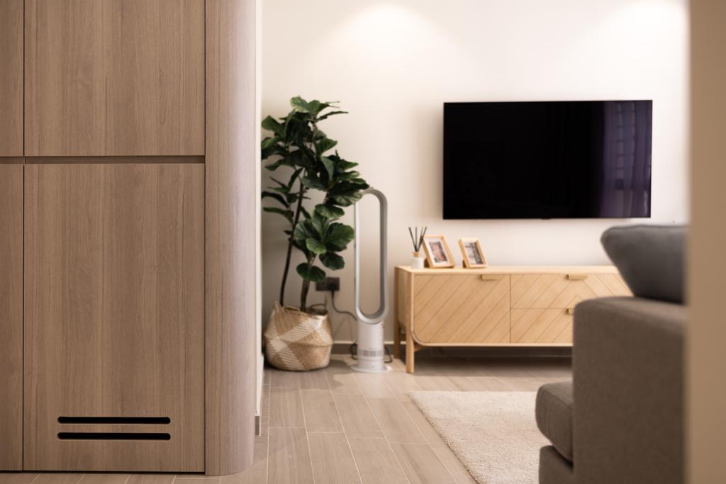 Scandinavian, HDB, Living Room, Toa Payoh Apex, Interior Designer, Mr Shopper Studio
