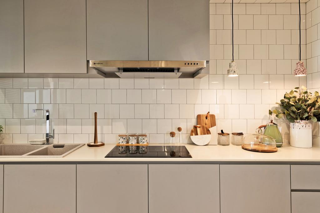 Scandinavian, HDB, Kitchen, Toa Payoh Apex, Interior Designer, Mr Shopper Studio