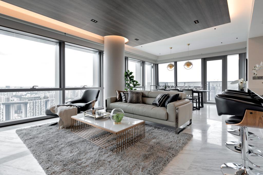 Contemporary, Condo, Living Room, Wallich Residence, Interior Designer, Mr Shopper Studio
