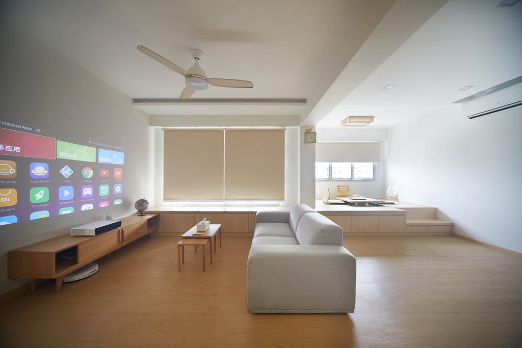 Minimalist, HDB, Living Room, Yishun Avenue 4, Interior Designer, D5 Studio Image