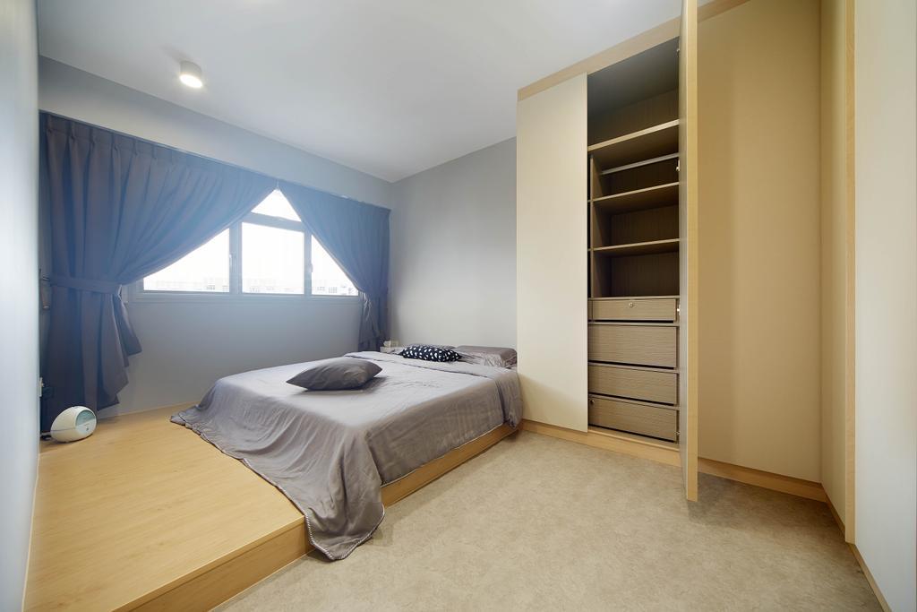 Minimalistic, HDB, Bedroom, Yishun Avenue 4, Interior Designer, D5 Studio Image